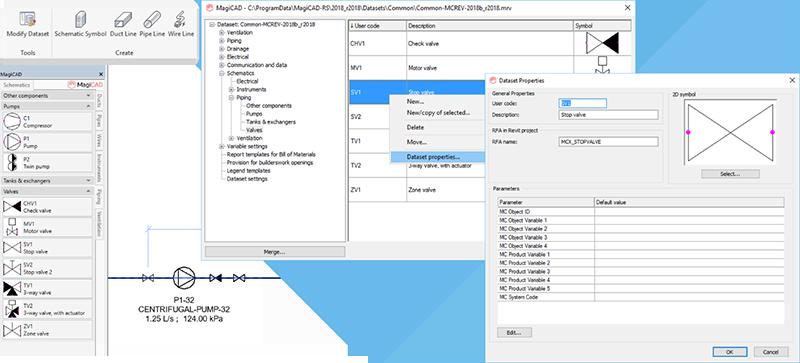 Добавление символов в чертежи схемы и определение описания символов с параметрами